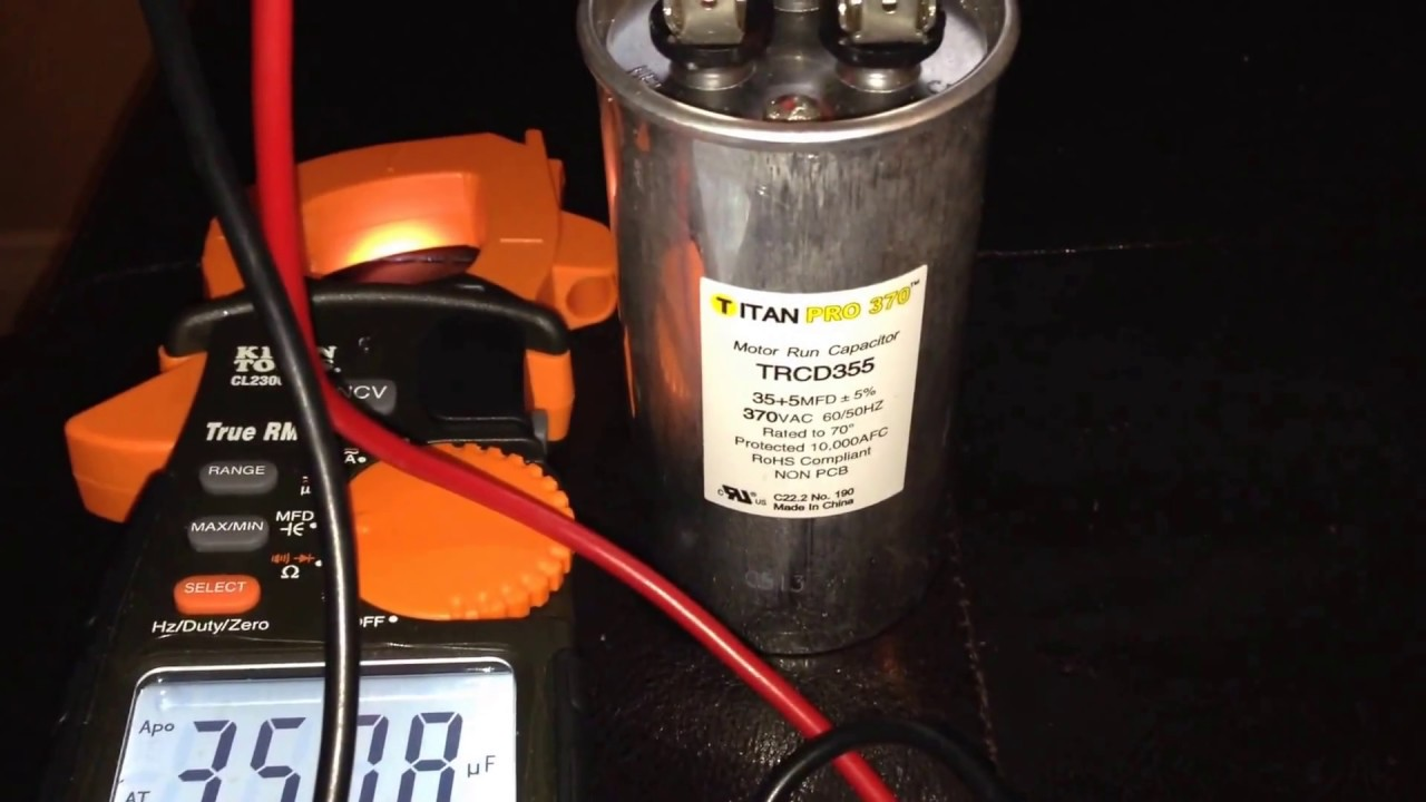 How to test capacitor with a multimeter simple youtube for How to check ac motor