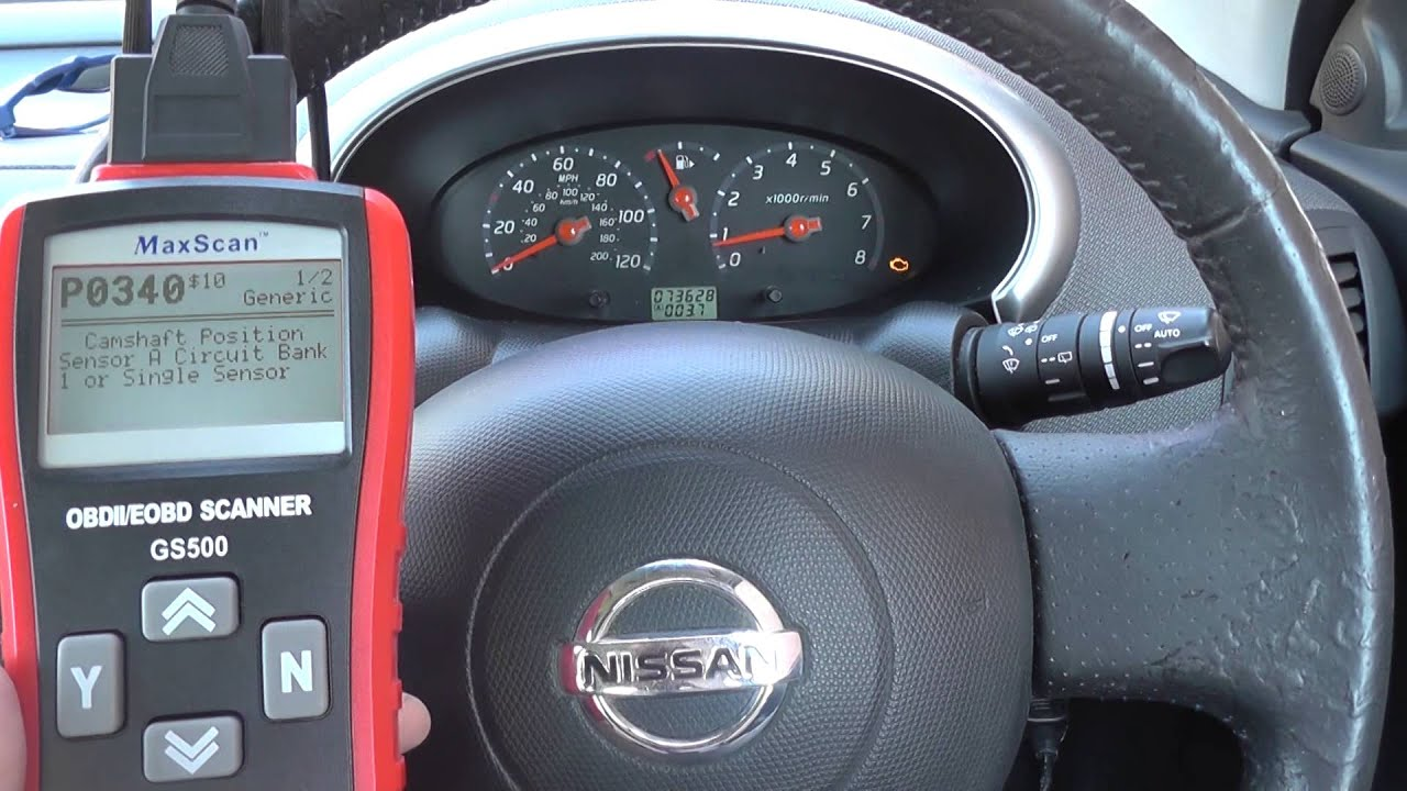 P0444 P0340 Camshaft Amp Purge Valve Nissan Engine Light