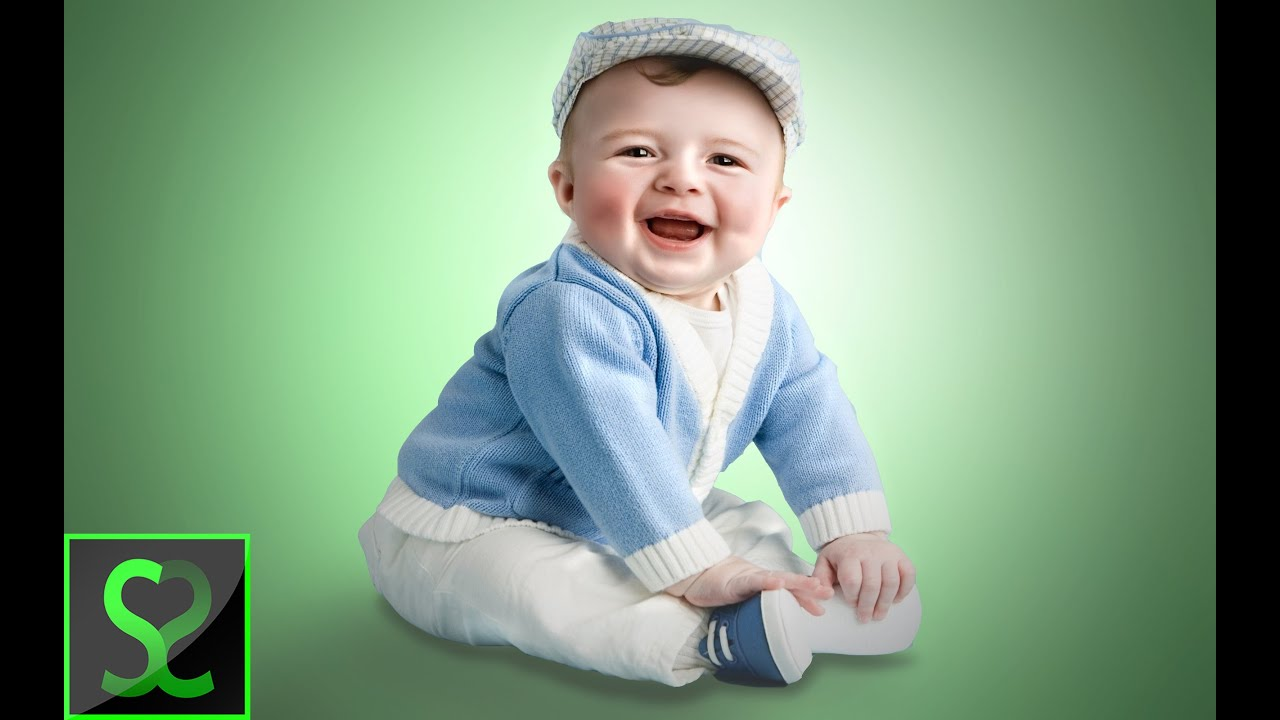 Baby portrait retouching photoshop tutorial on jill greenberg style youtube