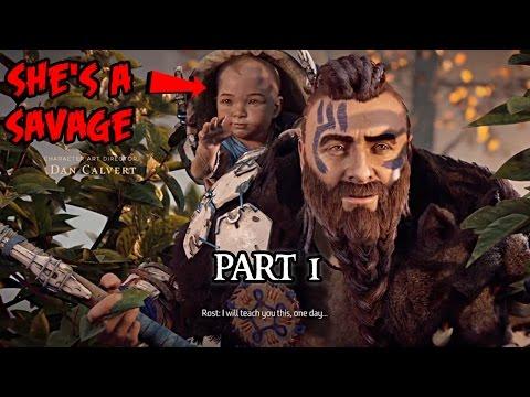 HORIZON ZERO DAWN Walkthrough Gameplay Part 1 - Aloy
