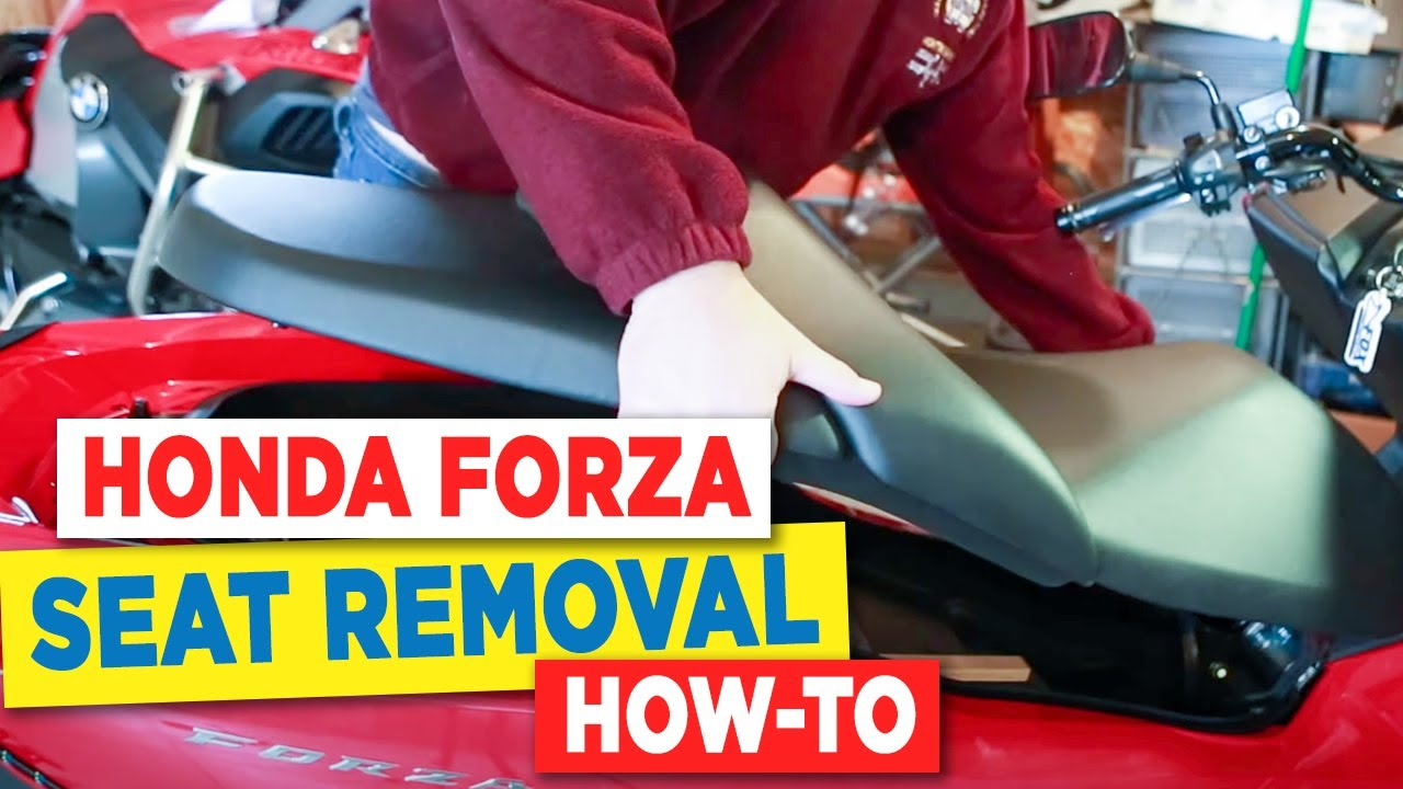 Honda Forza Seat Removal To Access Battery Youtube