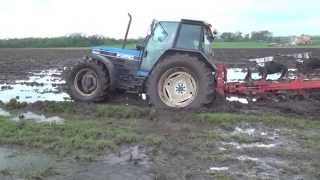 Ford 8340 stuck  ploughing a wet patch gtritchie5