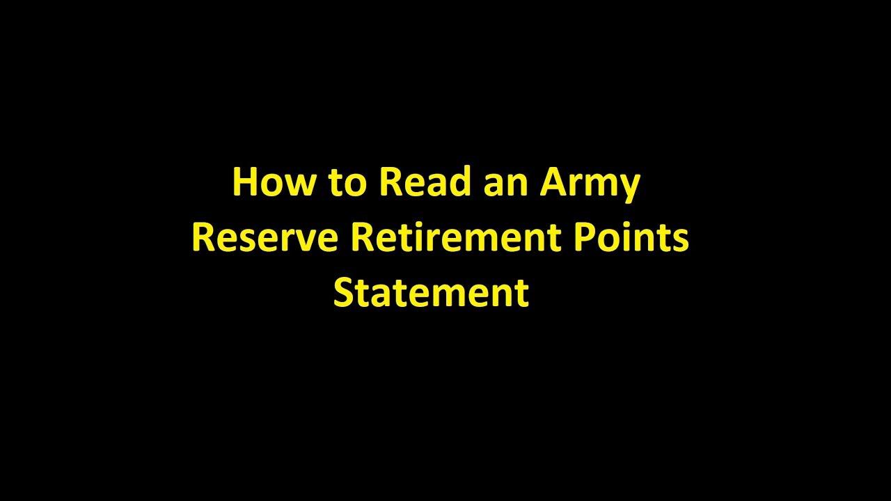 retirement points statement