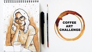 "COFFEE ART CHALLENGE || ""The Coffee Girl"""