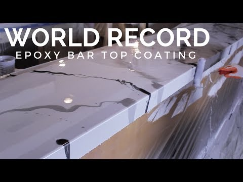 Worlds Longest DIY Metallic Epoxy Countertop/Bartop Coating
