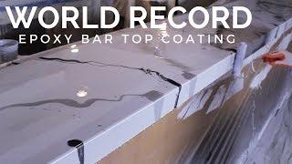 Worlds Longest DIY Metallic Epoxy Countertop/Bartop Coating