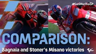 Comparison: Francesco Bagnaia and Casey Stoner's Misano victories