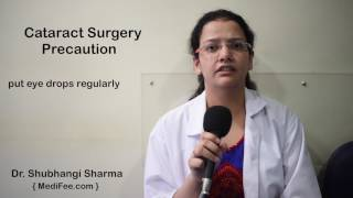 Precautions Take After Cataract Removal Surgery