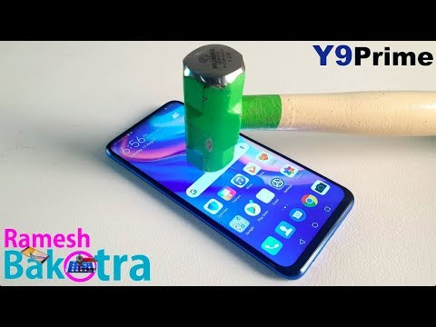 Huawei Y9 Prime 2019 Screen Scratch Test