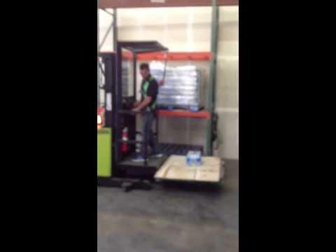 Clark order picker forklift - YouTube