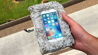 Can Concrete Protect iPhone 6s from 100 FT Drop Test? - GizmoSlip thumbnail