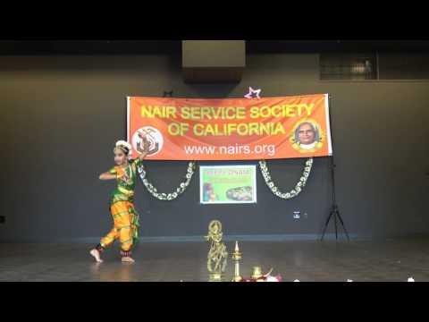 Udu Raja Mukhi - semi classical dance by Sreeya Nair @NSS California Onam 2016