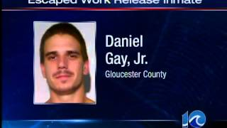 Gloucester inmate escapes during work release