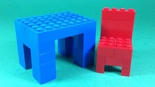 How To Build Lego TABLE and CHAIR (FURNITURE) - 4628 LEGO® Fun with Bricks Building Ideas for Kids