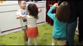 Позитивия 15 01 2019 Урок бальных танцев в садике воспитатель Наира Папян
