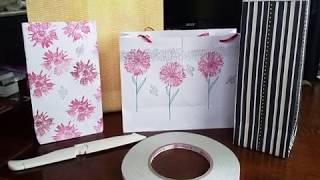 Tutorial - No Cut And No Measure Easy To Make Paper Gift Bag - Never Buy Another Gift Bag!