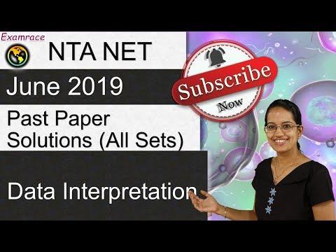 Data Interpretation (DI): Important Questions From NTA NET Paper 1 June 2019 (Past Paper Solutions)
