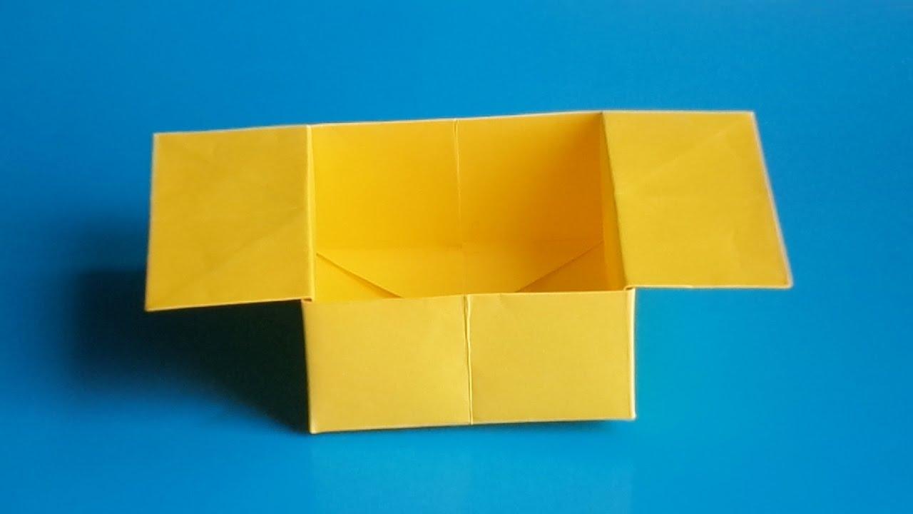 оригами коробочка, бумажная коробочка оригами, origami paper box
