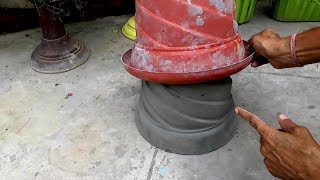 Flower pots ideas || How to make beautiful cement pot at home easily.