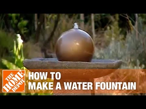 How to Create a Disappearing Water Fountain The Home Depot YouTube