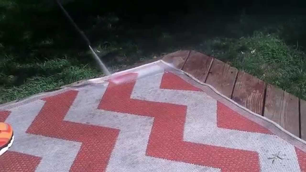How To Clean An Outdoor Rug Youtube