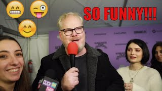 Jim Gaffigan Dishes Dirt With Eve Hewson on  Filming Tesla with Ethan Hawk at Sundance 2020