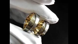 видео Обручальные кольца с отпечатками пальцев