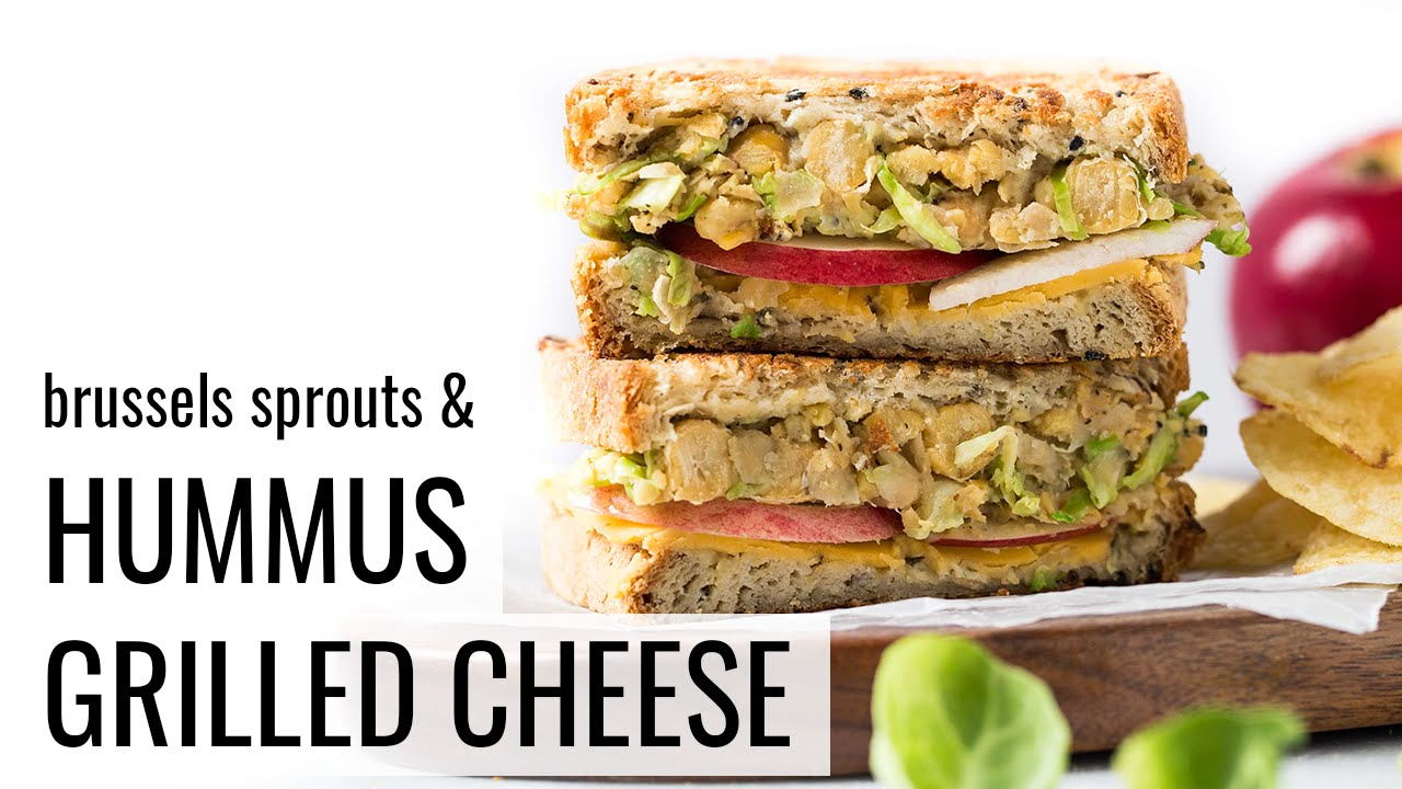 VEGAN HUMMUS GRILLED CHEESE | healthy lunch idea