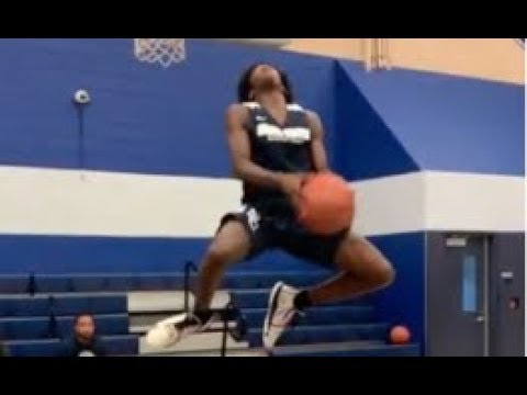 D. WADE AND LEBRON SONS HAVE A MINI DUNK CONTEST!