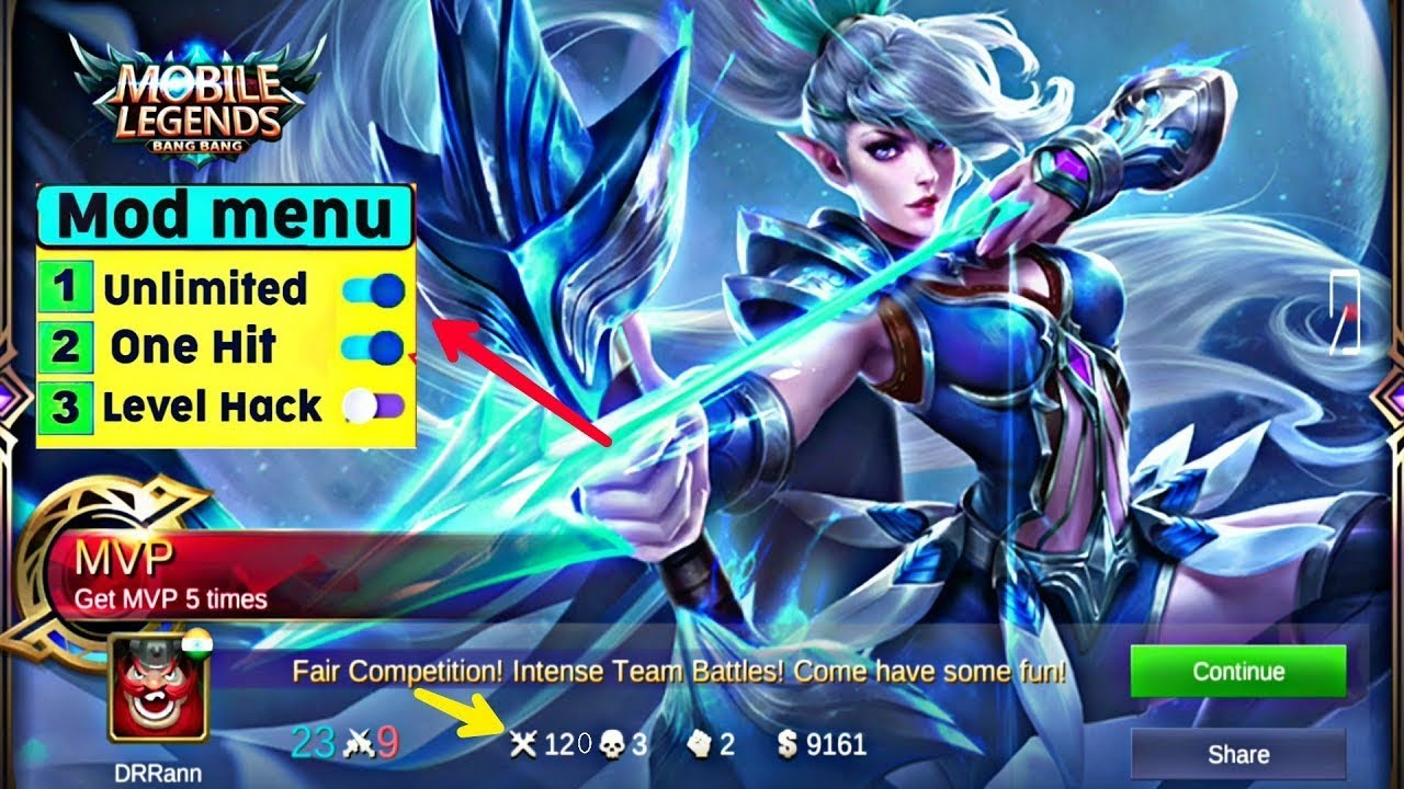 mobile legends mod apk 2019 (one hit kill,radar & skins hack,no root)