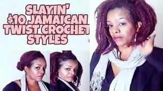 $10 CROCHET BRAIDS STYLE | JAMAICAN TWIST T350 & MAINTENANCE | whoIsJasmineblack