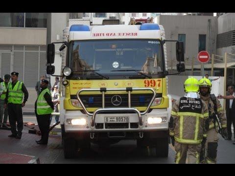 Dubai Civil Defense & CoAS on scene of a drill (Part 1/2 - pictures)