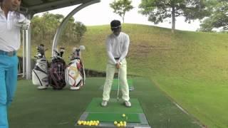 【ゴルフ上達レッスン動画】スイングの基本は肩回転の高低差
