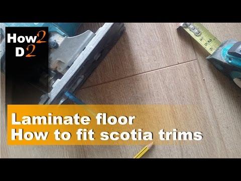 How to fit scotia trims in laminate flooring     Edging corners laminate floor