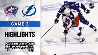 NHL Highlights | First Round, Gm 2: Blue Jackets @ Lightning - Aug. 13, 2020
