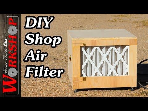 DIY Shop Air Filter (from a furnace blower)