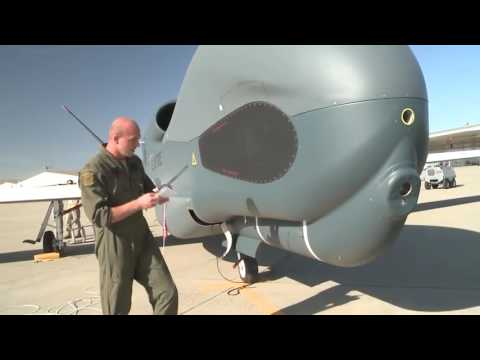 US Airforce RQ 4 Global Hawk Unmanned Surveillance Aircraft.