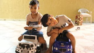 زياد والياس يتحدون بالسيارات الصغيره !