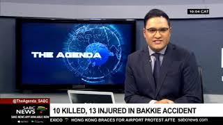 10 killed, 13 injured in bakkie accident