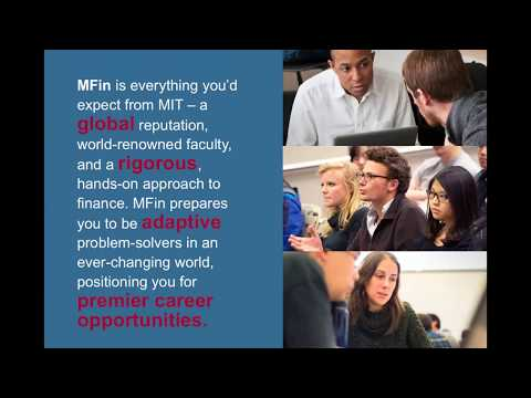 MIT Sloan: MFin Curriculum Overview Panel 2018