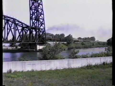 N&W Class J East @ Calumet River Drawbridge, Calumet Harbor, IL.avi