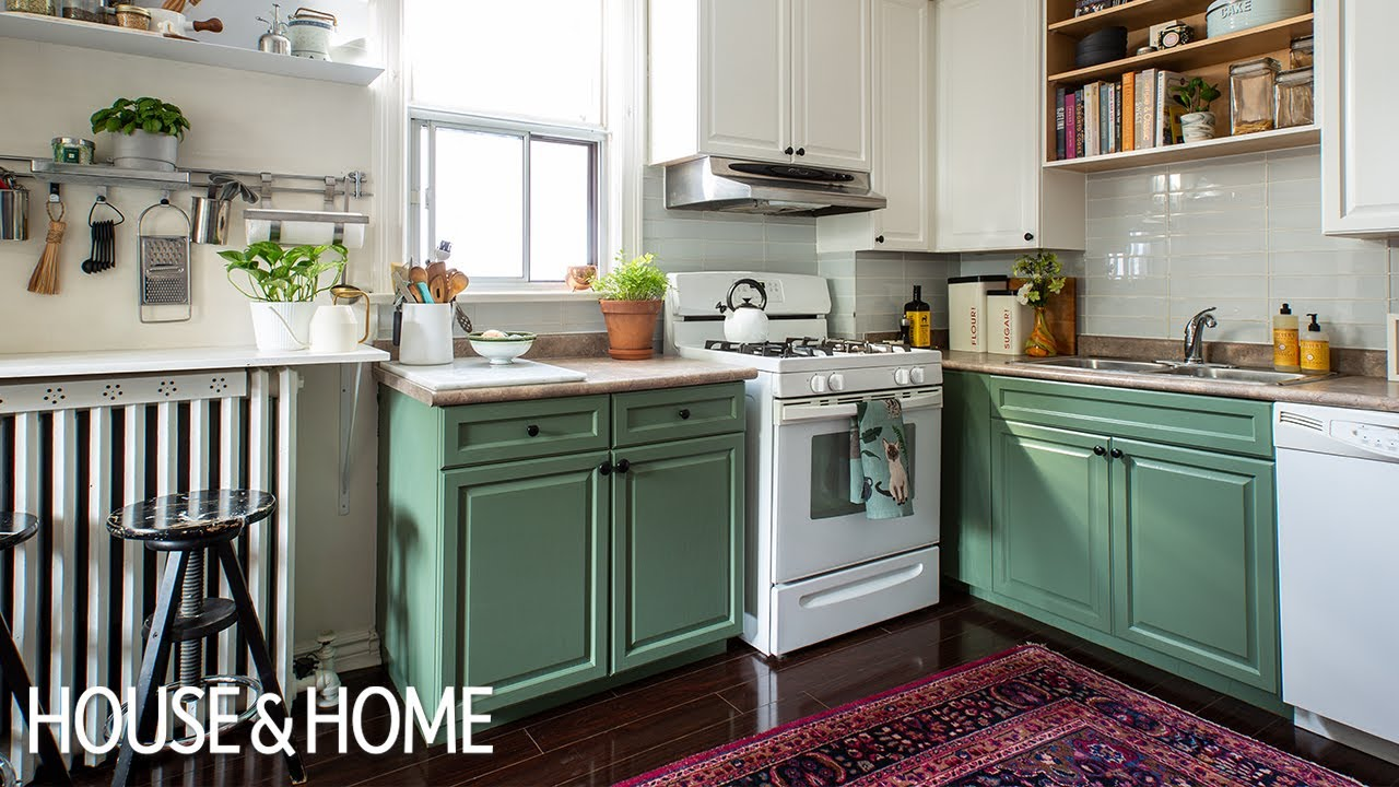 Not So Simple Diy Small Kitchen Makeover Youtube