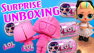 LOL Surprise Dolls Open NEW Underwraps! Featuring Thrilla, 80s BB, Curious QT, Fancy, and MC Swag!