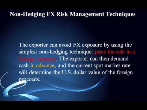 Hedging techniques in forex management