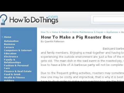 how to build a pig roasting box