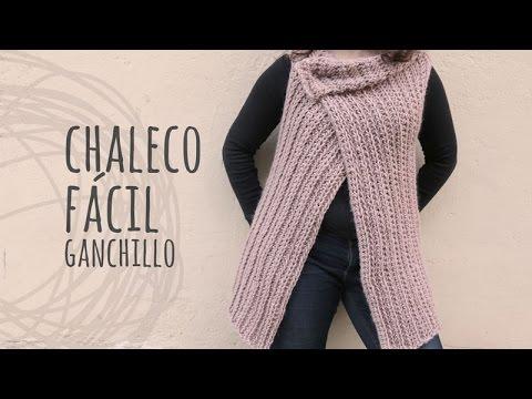 tutorial chaleco f cil y r pido a ganchillo crochet. Black Bedroom Furniture Sets. Home Design Ideas