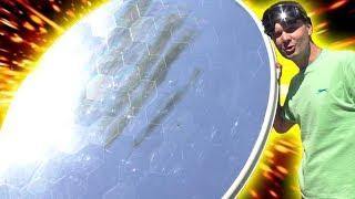 🌑 МОЩНЫЙ СОЛНЕЧНЫЙ КОНЦЕНТРАТОР 2000°С  из большой спутниковой тарелки  Игорь Белецкий