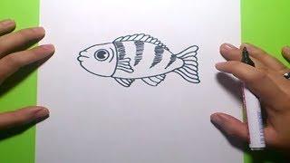 Como dibujar un pez paso a paso 7 | How to draw a fish 7