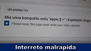 Mi plendas pri mia malrapida interreta konekto | Esperanto vlogo