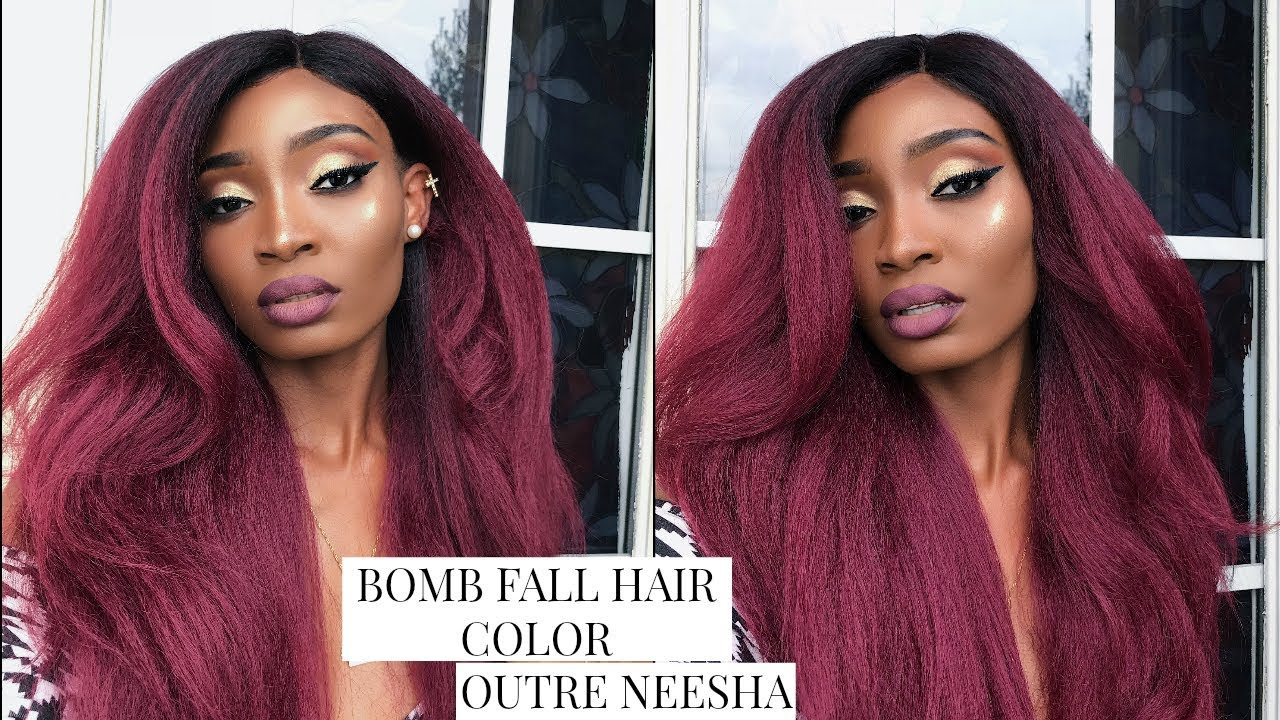 Bomb Fall Hair Color Outre Neesha Dr425 Missmeroon Youtube
